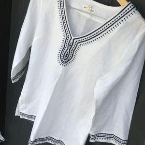 Artisan NY White Linen Beach Shirt